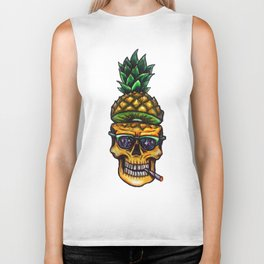 Pineapple Skull Biker Tank