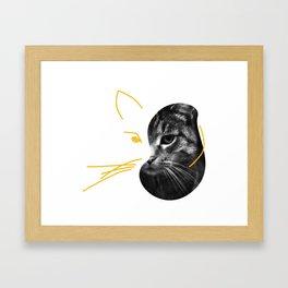 Gestalt Cat Framed Art Print