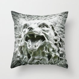 Stand Down, Little Red. Throw Pillow