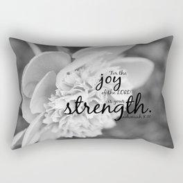 Nehemiah 8:10 Joy Lord Strength Rectangular Pillow