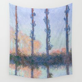 The Four Trees by Claude Monet Wall Tapestry