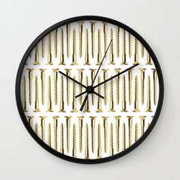 Golden Screws Texture Wall Clock