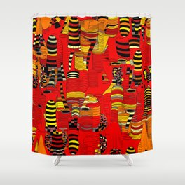 Grand Finale - Red Sky Shower Curtain