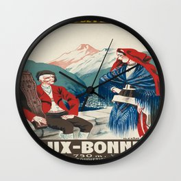 Vintage picture - France Wall Clock