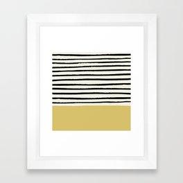 Daffodil Yellow x Stripes Framed Art Print