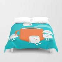 budi satria kwan Duvet Covers featuring Cannonball by Picomodi
