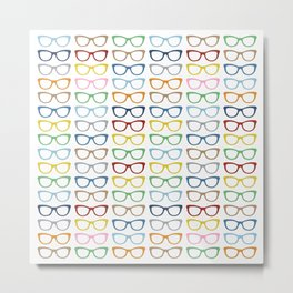 Rainbow Specs Metal Print
