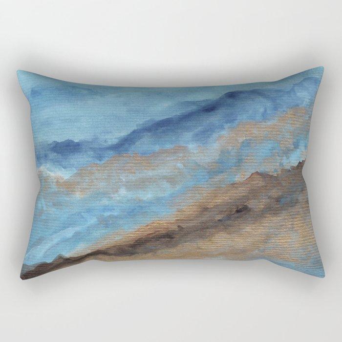Watercolor abstract landscape 20 Rectangular Pillow