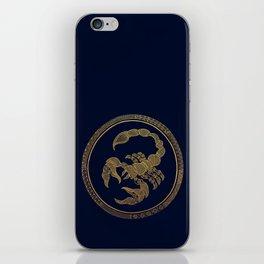 Golden Zodiac Series - Scorpio iPhone Skin