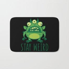 Stay Weird Alien Monster Bath Mat