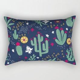 Cactus Blossoms  Rectangular Pillow