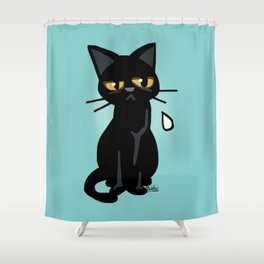 He is disappointed Shower Curtain
