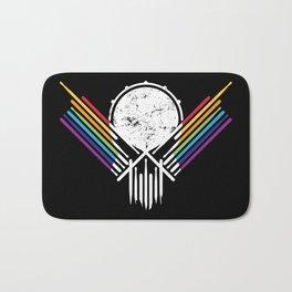 Artsy Drummer Skull Bath Mat