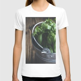 Basil in bucket T-shirt