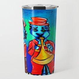 Blue Cat Trio Band Travel Mug