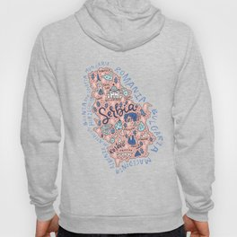 Map of Serbia Hoody