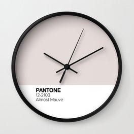 Pantone: Almost Mauve Wall Clock
