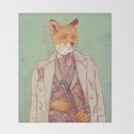 Jay the Fox Throw Blanket