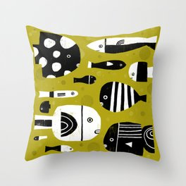 AQUARIUM GROUPIES Throw Pillow