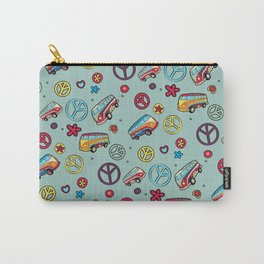 Retro  Hippie  Pattern 1 Carry-All Pouch