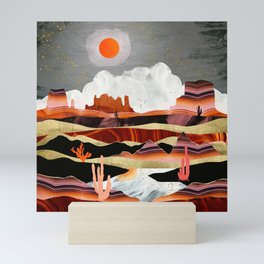 Coral Desert Lake Mini Art Print