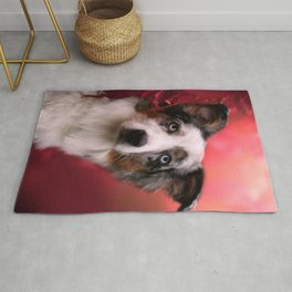 Australian Shepherd and Autumn Rug