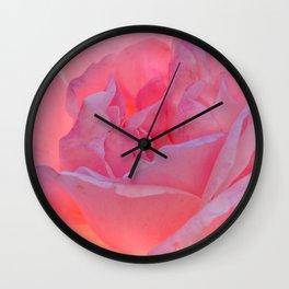 A Pink Rose Wall Clock