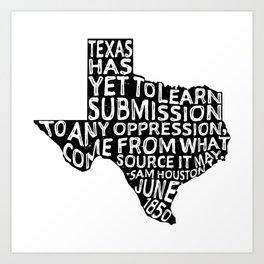 Texas Y'All Art Print