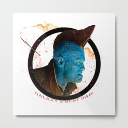 Galaxy's Best Dad! Metal Print