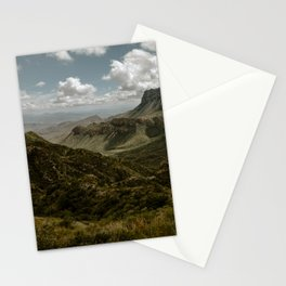 Cloudy Vibrant Mountaintop View in Big Bend - Lost Mine Trail Stationery Cards