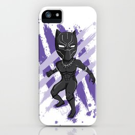 Black Panther (Splatter) iPhone Case