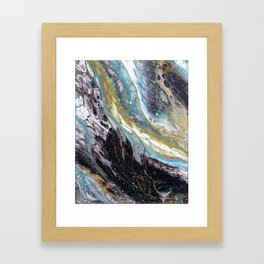 A View from the ISS - Abstract Flow Acrylic Framed Art Print