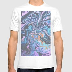 Party Crasher MEDIUM White Mens Fitted Tee