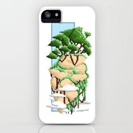 Pixel Landscape : Flying Rock iPhone Case