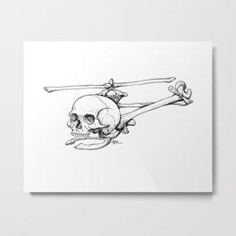 Skelecopter Metal Print