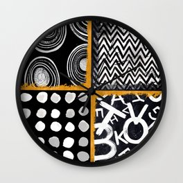 KAR-576 Lines and Dots I Wall Clock