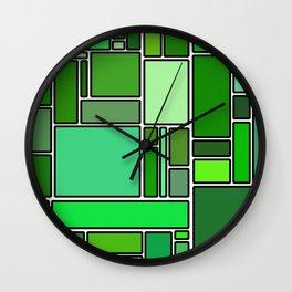 50 shades of green Wall Clock