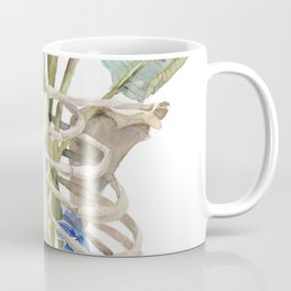 Thorax with Strelizia, Blue Butterflies, Anatomical Art Coffee Mug