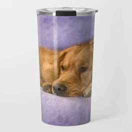 Golden Retriever with puppy Travel Mug
