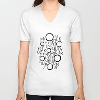 typo V-neck T-shirts featuring typo by Catherine_S