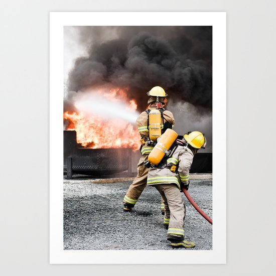 Firefighting Art Print