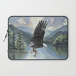 Eagle with Fish Laptop Sleeve