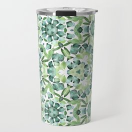 Green petal kaleidoscope  Travel Mug