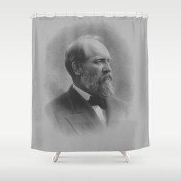 President James Garfield Shower Curtain