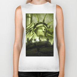 Tourist Destination - Statue of Liberty Style Biker Tank