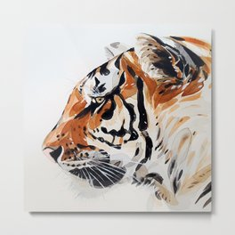TIGER IN WATERCOLOR Metal Print