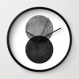Black and white graphic minimalist scandinavian abstract geometric modern circle Wall Clock