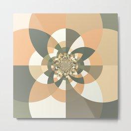 Beige Peach Kaleidoscope Metal Print
