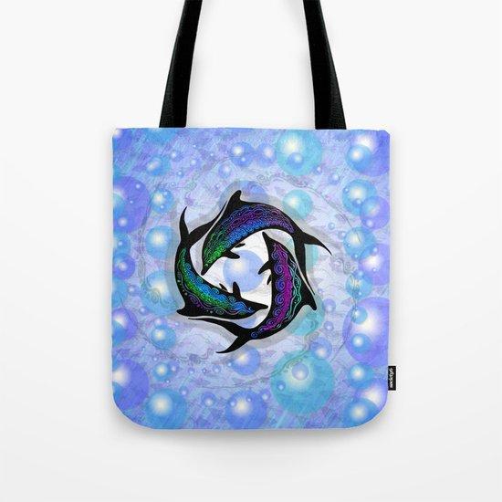 DOLPHINS CIRCLE Tote Bag