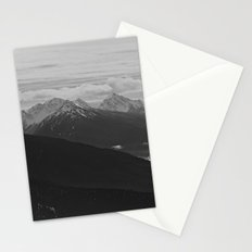 Mountain Landscape Black and White Stationery Cards